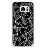 Casetastic Softcover Samsung Galaxy S7 - Abstraction Lines Black