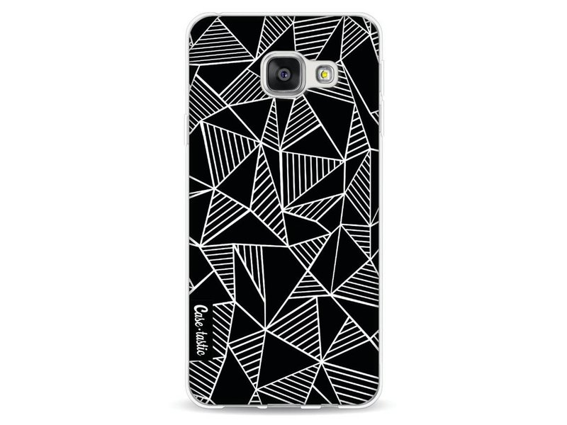 Casetastic Softcover Samsung Galaxy A3 (2016) - Abstraction Lines Black