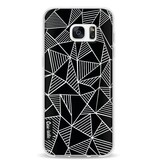 Casetastic Softcover Samsung Galaxy S7 Edge - Abstraction Lines Black