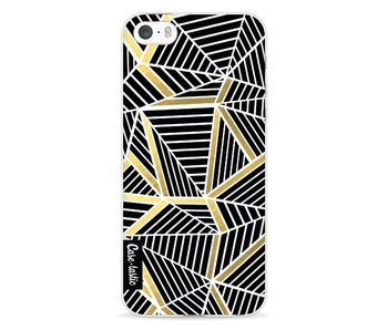Abstraction Lines Black Gold - Apple iPhone 5 / 5s / SE