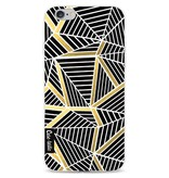 Casetastic Softcover Apple iPhone 6 / 6s  - Abstraction Lines Black Gold
