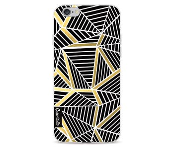 Abstraction Lines Black Gold - Apple iPhone 6 / 6s