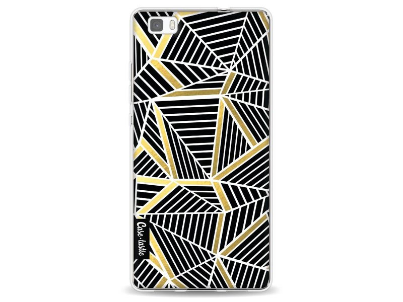 Casetastic Softcover Huawei P8 Lite - Abstraction Lines Black Gold