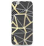 Casetastic Softcover Apple iPhone 6 Plus / 6s Plus - Abstraction Lines Black Gold