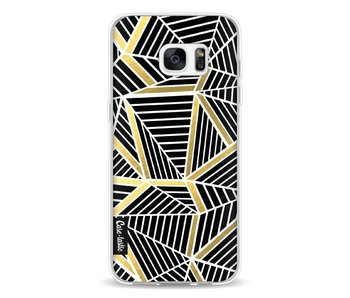 Abstraction Lines Black Gold - Samsung Galaxy S7 Edge