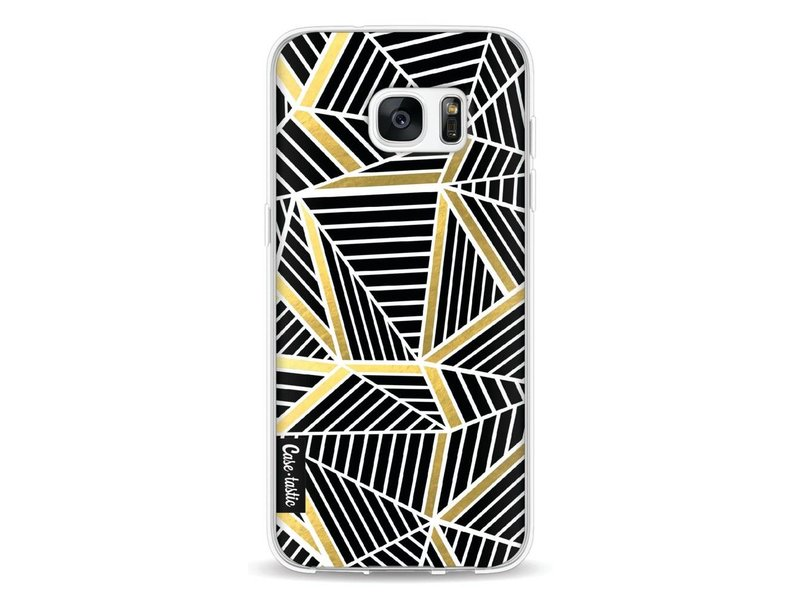Casetastic Softcover Samsung Galaxy S7 Edge - Abstraction Lines Black Gold