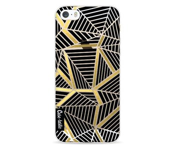 Abstraction Lines Black Gold Transparent - Apple iPhone 5 / 5s / SE