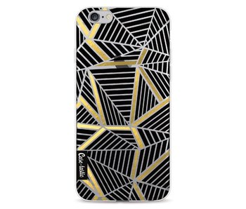 Abstraction Lines Black Gold Transparent - Apple iPhone 6 / 6s