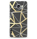 Casetastic Softcover Samsung Galaxy A5 (2016) - Abstraction Lines Black Gold Transparent