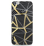 Casetastic Softcover Apple iPhone 6 Plus / 6s Plus - Abstraction Lines Black Gold Transparent