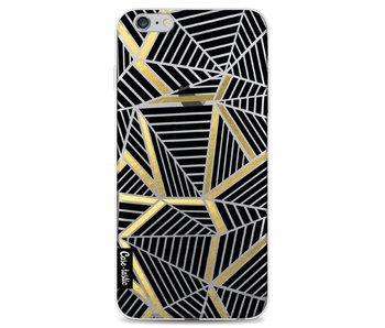 Abstraction Lines Black Gold Transparent - Apple iPhone 6 Plus / 6s Plus