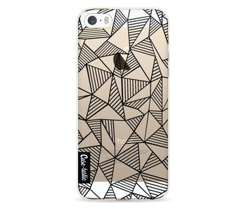 Abstraction Lines Black Transparent - Apple iPhone 5 / 5s / SE