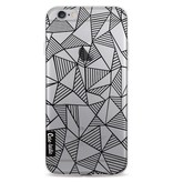 Casetastic Softcover Apple iPhone 6 / 6s  - Abstraction Lines Black Transparent