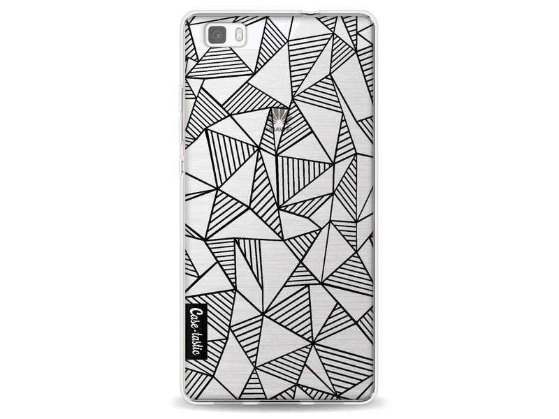 Casetastic Softcover Huawei P8 Lite - Abstraction Lines Black Transparent