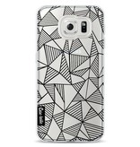 Casetastic Softcover Samsung Galaxy S6 - Abstraction Lines Black Transparent