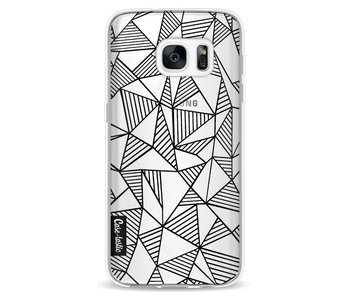 Abstraction Lines Black Transparent - Samsung Galaxy S7