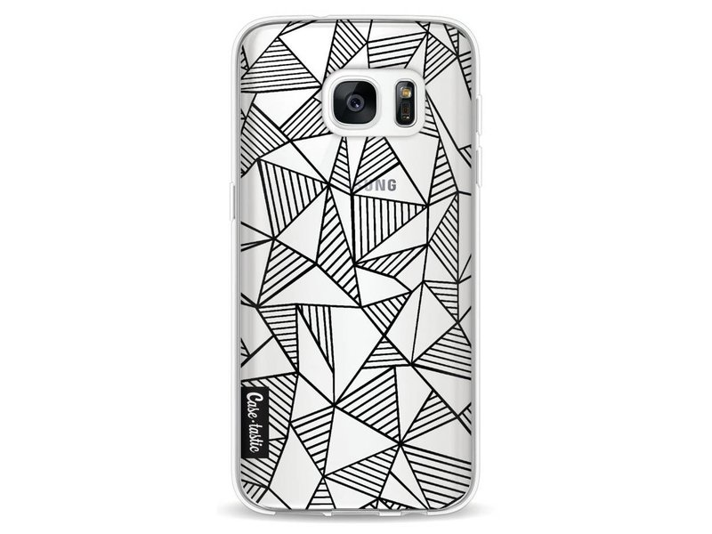 Casetastic Softcover Samsung Galaxy S7 - Abstraction Lines Black Transparent
