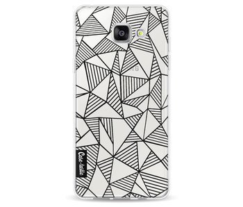Abstraction Lines Black Transparent - Samsung Galaxy A5 (2016)