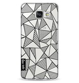 Casetastic Softcover Samsung Galaxy A3 (2016) - Abstraction Lines Black Transparent