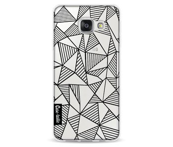 Abstraction Lines Black Transparent - Samsung Galaxy A3 (2016)