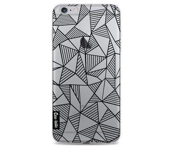 Abstraction Lines Black Transparent - Apple iPhone 6 Plus / 6s Plus
