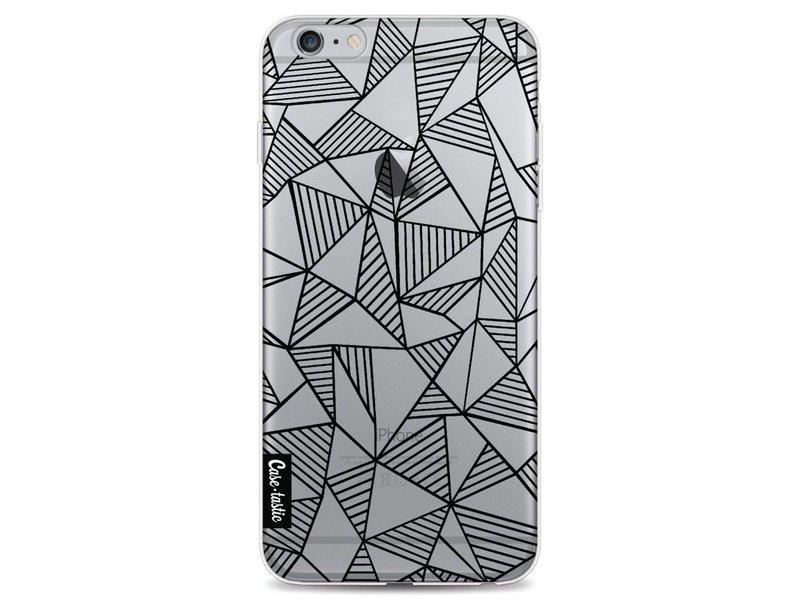 Casetastic Softcover Apple iPhone 6 Plus / 6s Plus - Abstraction Lines Black Transparent