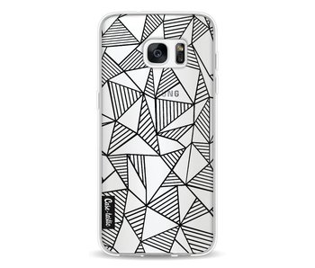 Abstraction Lines Black Transparent - Samsung Galaxy S7 Edge