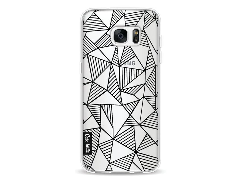 Casetastic Softcover Samsung Galaxy S7 Edge - Abstraction Lines Black Transparent