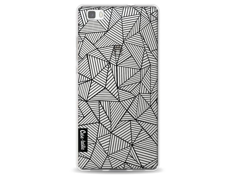 Casetastic Softcover Huawei P8 Lite - Abstraction Lines Transparent