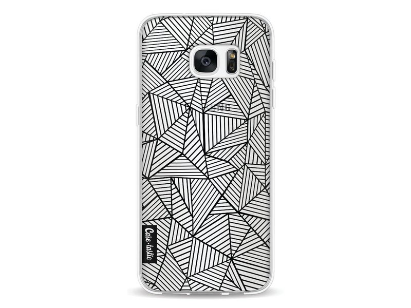 Casetastic Softcover Samsung Galaxy S7 Edge - Abstraction Lines Transparent