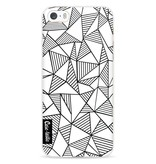 Casetastic Softcover Apple iPhone 5 / 5s / SE - Abstraction Lines White