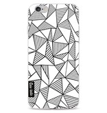 Casetastic Softcover Apple iPhone 6 / 6s  - Abstraction Lines White