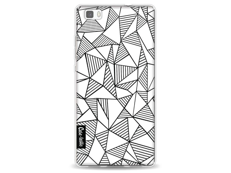 Casetastic Softcover Huawei P8 Lite - Abstraction Lines White
