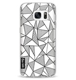 Casetastic Softcover Samsung Galaxy S7 - Abstraction Lines White