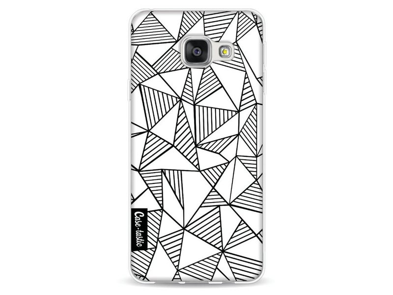 Casetastic Softcover Samsung Galaxy A3 (2016) - Abstraction Lines White