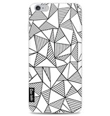 Casetastic Softcover Apple iPhone 6 Plus / 6s Plus - Abstraction Lines White