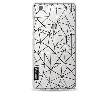 Abstraction Outline Black Transparent - Huawei P8 Lite