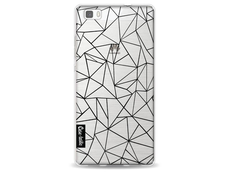 Casetastic Softcover Huawei P8 Lite - Abstraction Outline Black Transparent