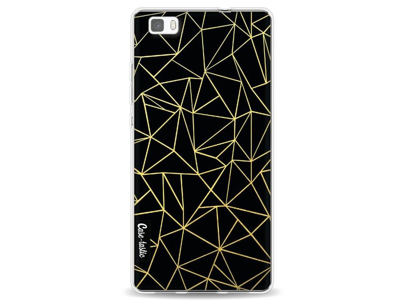 Casetastic Softcover Huawei P8 Lite - Abstraction Outline Gold
