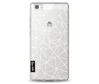 Abstraction Outline White Transparent - Huawei P8 Lite