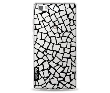 British Mosaic Black Transparent - Huawei P8 Lite