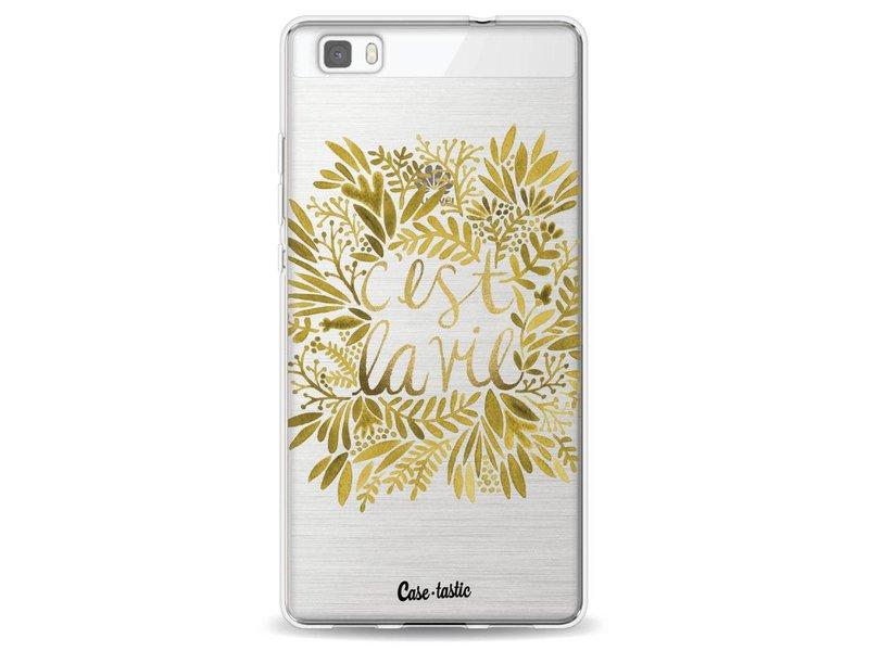 Casetastic Softcover Huawei P8 Lite - Cest La Vie Gold