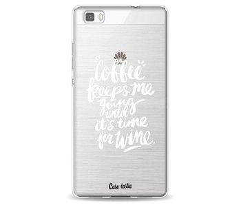 Coffee Wine White Transparent - Huawei P8 Lite