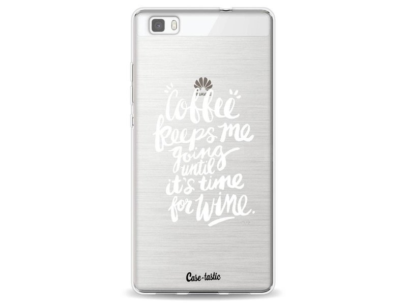 Casetastic Softcover Huawei P8 Lite - Coffee Wine White Transparent