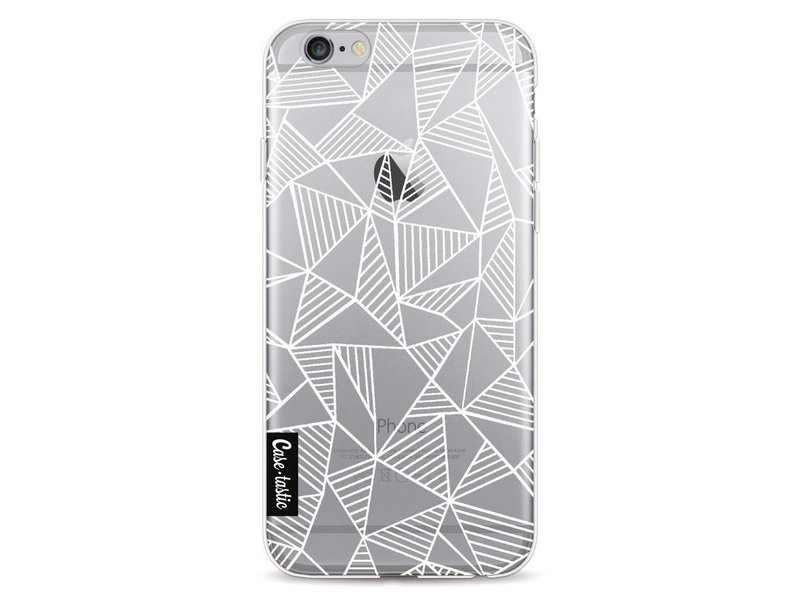 Casetastic Softcover Apple iPhone 6 / 6s  - Abstraction Lines White Transparent
