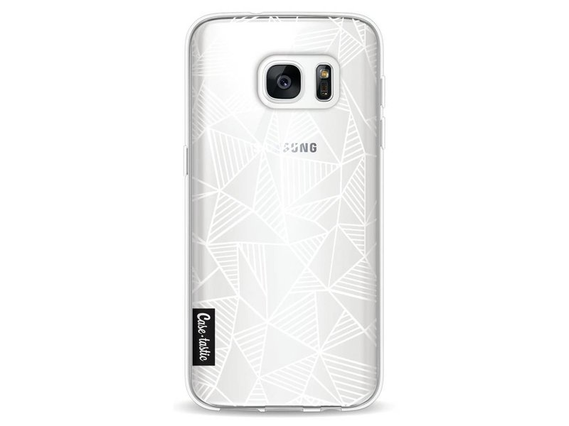 Casetastic Softcover Samsung Galaxy S7 - Abstraction Lines White Transparent