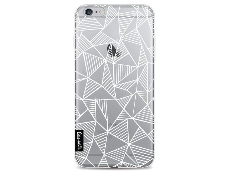 Casetastic Softcover Apple iPhone 6 Plus / 6s Plus - Abstraction Lines White Transparent