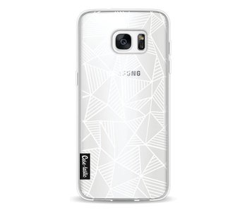 Abstraction Lines White Transparent - Samsung Galaxy S7 Edge