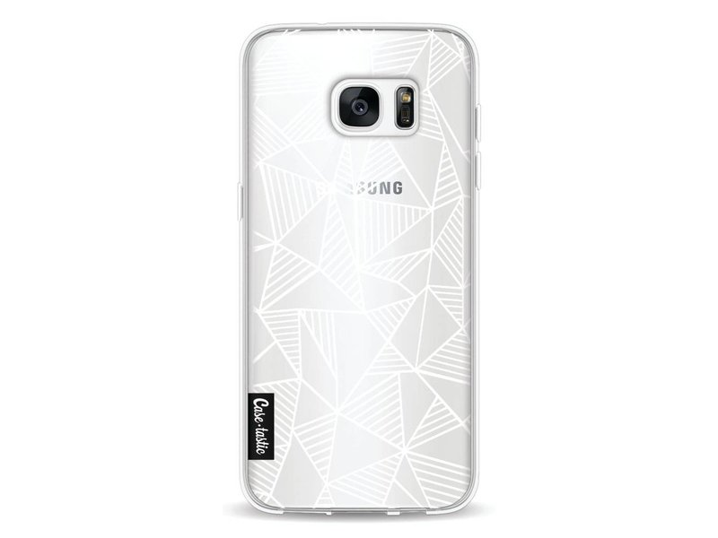 Casetastic Softcover Samsung Galaxy S7 Edge - Abstraction Lines White Transparent