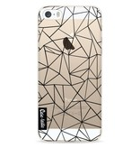 Casetastic Softcover Apple iPhone 5 / 5s / SE - Abstraction Outline Black Transparent